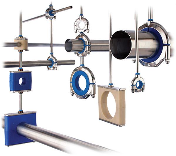 Harrington Industrial Plastics - Stauff Pipe Hangers - Life Sciences