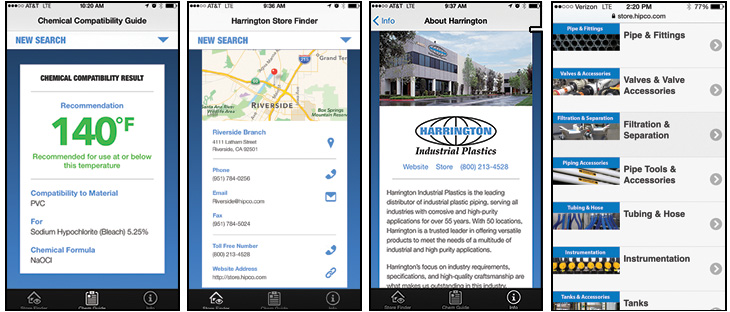 Harrington Industrial Plastics - Chemical - App Store