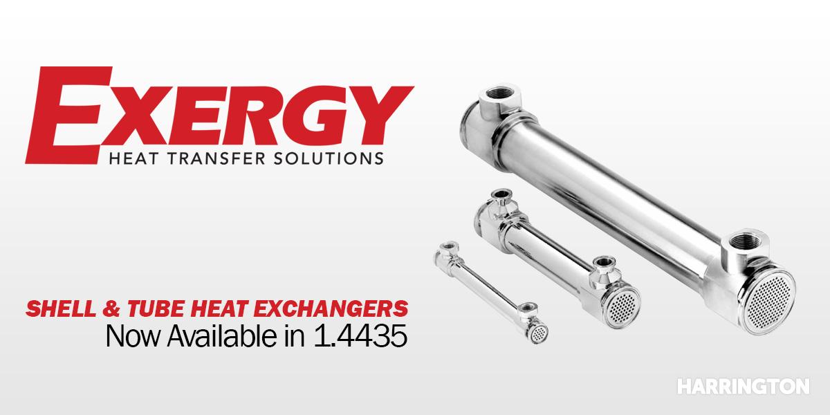 Exergy – Shell & Tube Heat Exchangers
